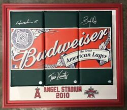 2010 Mlb All Star Game Los Angeles Matsui Abreu Hunter Signed Outfield Wall