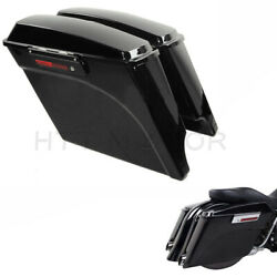 5 Stretched Extended Hard Saddle Bags For Harley 1993-2013 Touring Motorcycle