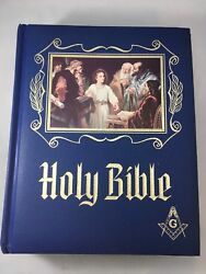 1971 Masonic Holy Bible Master Reference Edition Heirloom Red Letter Edition