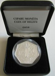Latvia 1 Lats 2007 Coin Of Digits Silver