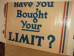 Ww1 Poster Section 2 Of 3 Have You Bought Your Limit Today 4th Liberty Loan