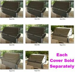 Built-in Bbq Grill Cover Fits 30 To 56 L 5 Sizes X 30 D X 16 H - 2x Colors