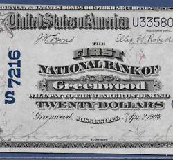Ms 1902 20 ♚♚greenwoodmississippi♚♚ Pcgs Ch About New 55 Best Grade