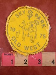 Vtg amp; As Is 1975 SKY PARK Ohio Pilot Airport OLD WEST TRIP Snoopy Patch 88NJ