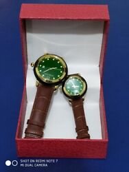 Chinaand039s Jade Exquisite Qingjade Watch Quartz Watch Couples With Leather Bracelet