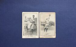 1922 E121 Set Of 120, Lot Of 2 Cards Ty Cobb, Ira Flagstead - Detroit Tigers