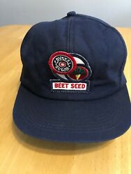 K-products Vintage Crystal Sugar Beet Seed Agriculture Patch Logo Hat Cap Euc