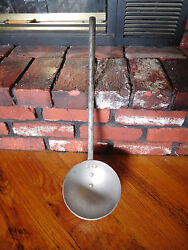 Rare Vintage Cast Metal 20 Large Heavy Forged Ladle Dipper Fireplace Cooking