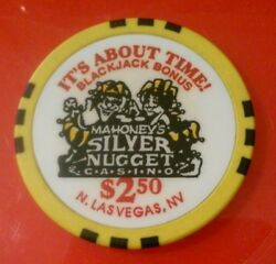 Mahoneys Silver Nugget Casino Las Vegas Nevada 2.50 Chip Great For Collection