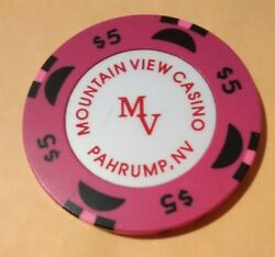 Mountain View Casino Pahrump Nevada 5.00 Chip Great For Any Collection