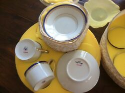 Royal Limoges Richelieu Cups And Saucers Set Of 12 - Holiday Table