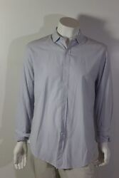 Thomas Mason Shirtings For J. Crew Size L Menand039s White/blue L/s Strip Buttondown