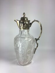 William Hutton And Sons Late 19th C London Sterling Silver Mounted Glass Decanter