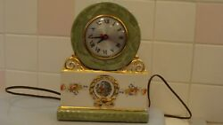 Beautiful Vintage Electric Ceramic Clock Movement By Sessions, Works