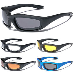 Men Women Wind Impact Resistant Foam Padded Glasses Motorcycle Riding Sunglasses $7.99