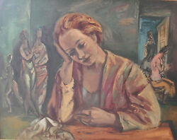 Frederic Taubes Figures In Interior 1937 Oil On Canvas