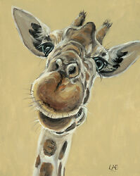 Louise Brown - Hey You Down There - 40 X 50cm Canvas Print Wall Art Wdc94751