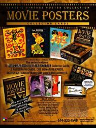 Classic Vintage Movie Posters Trading Card Dealer Sell Sheet Sale Ad Breygent 20