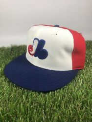 Vintage Montreal Expos New Era Pro Model Hat Fitted Size 6 3/4 New