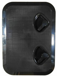 370mm X 375mm Seaflo Marine Boat Deck Access Hatch And Lid 14-3/4x14-1/2 - Black