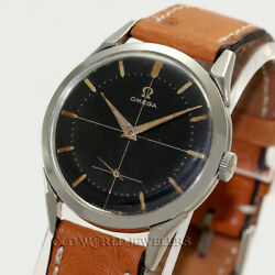 Omega Vintage Black Sector Ref 2605.17 - 34mm Stainless Steel Circa 1954