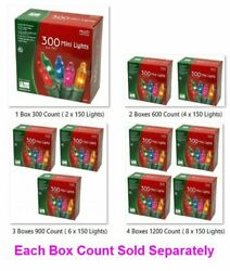 Mini Multi Color Christmas Light Sets Indoor And Outdoor 2-150 Light Bundles / Box