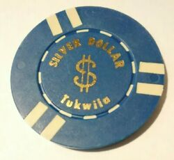 Silver Dollar Casino Tukwilo Washington 5.00 Chip Great For Any Collection
