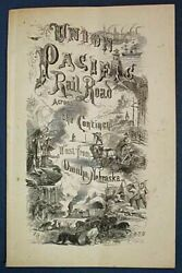 Us Railroad History / Union Pacific Railroad Company Chartered By The United 1st