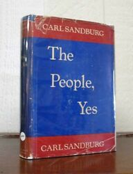 Carl Sandburg, 1878 1967 / The People Yes Signed 1936