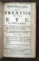 Peter B 1685 Kennedy / Ophthalmographia Or Treatise Of The Eye In Two Parts 1st