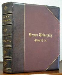 Class Photograph Album / Brown University Class Of And03975 Cover Title 1st Ed 1875
