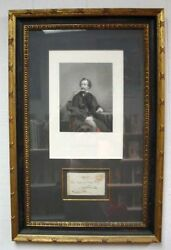 1812 1870 / Engraving Of Charles Dickens Plus Signed Envelope To Frederick Young