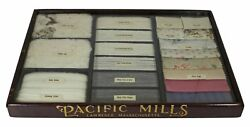 Textile Sample Display Case / Pacific Mills Cotton Wooden Display Case