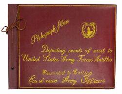 Us Military History / Photograph Album Depicting Events Of Visit To United 1st