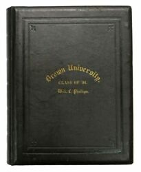 Class Photograph Album / Brown University Class Of And03981 Cover Title 1st Ed 1881