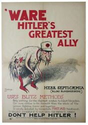 Wwii Poster / And039ware Hitlerand039s Greatest Ally Herr Septicaemia Alias Bloodpoisoning