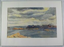 Vintage Original Watercolor Cohasset Spring '49 By Jeffries Wyman Listed