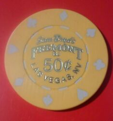 Fremont Hotel Casino Las Vegas Nevada .50 Cent Chip Great For Any Collection