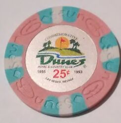 Dunes Casino Las Vegas Nevada .25 Cent Fantasy Chip Great For Any Collection