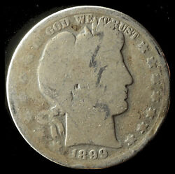 1899-p Barber 90 Silver Half Dollar Ships Free. Buy 5 For 2 Off