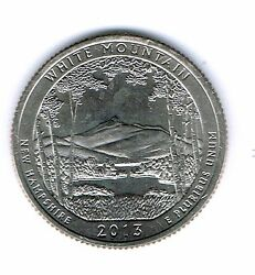 2013-d Brilliant Uncirculated White Mountains National Forest Quarter Coin