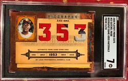 Satchel Paige Multi-color Game Used Patch 2008 Prime Cuts Jersey 33 11/15 Sgc