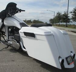 6 Stretched Saddlebags And Rear Fender With Dual Cutouts For Harley Baggers