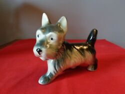 Large standing Scottish Terrier Dog Figurine Scottie Rare Royal Copley amazing
