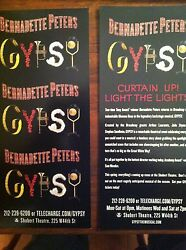 Gypsy Musical Bernadette Peters  Ad/flyer Broadway Musical Nyc 2003