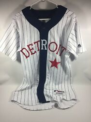Detroit Tigers Detroit Stars Authentic Team Issued Throwback Jersey Size 42