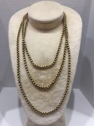 Gold Filled Victorian Fob Chain Necklace 60.0