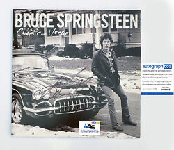 Bruce Springsteen Autograph Signed Chapter And Verse Album Vinyl Lp Acoa