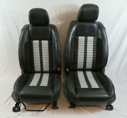 2010-2012 Ford Mustang Shelby GT500 Front & Rear OEM Ford Leather Seats Coupe