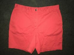 Polo Ralph Lauren Women's Petite Shorts BRIGHT Orange Size 12 12P 100% Cotton
